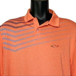 Greg Norman for Tasso Elba Peach Golf Polo Shirt